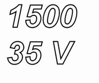 PANASONIC FCA,  1500uF/35V electrolytic capacitor, radial, 1