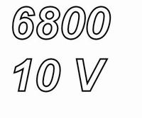 PANASONIC FCA, 6800uF/10V electrolytic capacitor, radial, 10