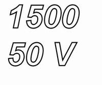 PANASONIC FCA, 1500uF/50V electrolytic capacitor, radial, 10