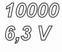 PANASONIC FCA,  10000uF/6,3V electrolytic capacitor, radial,