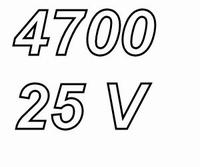 PANASONIC FC, 4700uF/25V Radial electrolytic capacitor