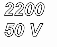 PANASONIC FCA, 2200uF/50V electrolytic capacitor, radial, 10
