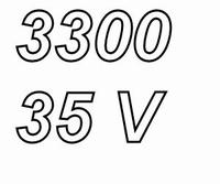 PANASONIC FC, 3300uF/35V Radial electrolytic capacitor