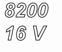 PANASONIC FCA, 8200uF/16V electrolytic capacitor, radial, 10
