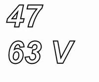 PANASONIC FCA, 47uF/63V electrolytic capacitor, radial, 105º