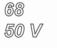 PANASONIC FC,  68uF/50V Radial electrolytic capacitor
