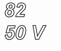 PANASONIC FCA,  82uF/50V  electrolytic capacitor, radial, 10