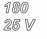 PANASONIC FCA, 180uF/25V electrolytic capacitor, radial, 105