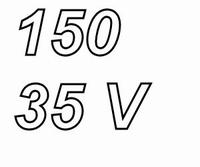 PANASONIC FCA,  150uF/35V electrolytic capacitor, radial, 10