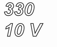 PANASONIC FCA, 330uF/10V electrolytic capacitor, radial, 105