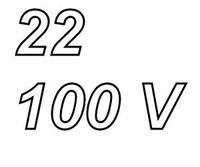 PANASONIC FCA elco, 22uF/100V, pitch 3,5mm, 105º, low ESR<br />Price per piece