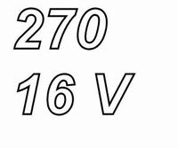 PANASONIC FCA,  270uF/16V electrolytic capacitor, radial, 10