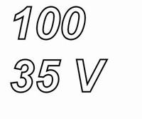 PANASONIC FC,  100uF/35V Radial electrolytic capacitor