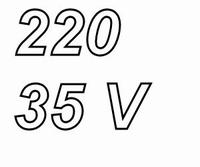 PANASONIC FCA elco, 220uF/35V, pitch 3,5mm, 105º, low ESR<br />Price per piece