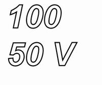 PANASONIC FCA, 100uF/50V electrolytic capacitor, radial, 105