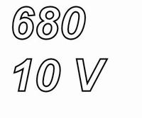 PANASONIC FCA,  680uF/10V electrolytic capacitor, radial, 10