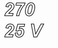 PANASONIC FCA,  270uF/25V electrolytic capacitor, radial, 10