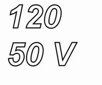 PANASONIC FCA,  120uF/50V electrolytic capacitor, radial, 10