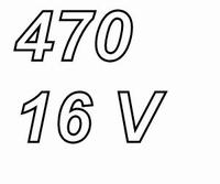 PANASONIC FC,  470uF/16V Radial electrolytic capacitor