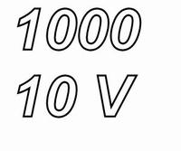 PANASONIC FCA,  1000uF/10V electrolytic capacitor, radial, 1