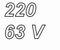 PANASONIC FCA,  220uF/63V electrolytic capacitor, radial, 10