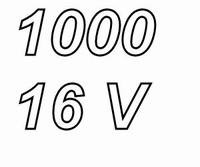 PANASONIC FCA,  1000uF/16V electrolytic capacitor, radial, 1