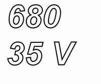 PANASONIC FCA,  680uF/35V electrolytic capacitor, radial, 10