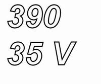 PANASONIC FCA,  390uF/35V electrolytic capacitor, radial, 10