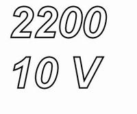 PANASONIC FCA,  2200uF/10V electrolytic capacitor, radial, 1
