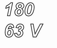 PANASONIC FCA,  180uF/63V electrolytic capacitor, radial, 10