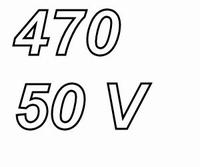 PANASONIC FCA, 470uF/50V electrolytic capacitor, radial, 105