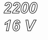 PANASONIC FCA, 2200uF/16V  electrolytic capacitor, radial, 1