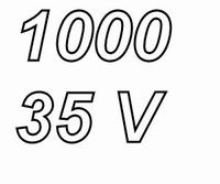 PANASONIC FCA,  1000uF/35V electrolytic capacitor, radial, 1