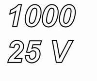 PANASONIC FR, 1000uF/25V Radial Power Supply capacitor