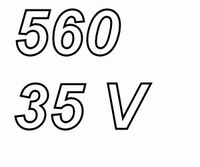 PANASONIC FRA, 560uF/35V, electrolytic capacitor, radial, 10