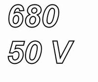 PANASONIC FRA, 680uF/50V, elcapacitor, radial, 105º, low ESR