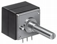 ALPS High-end stereo potentiometer, 100k log, PCB mounting<br />Price per piece