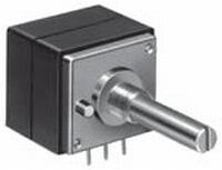 ALPS High-end st. bal. potmeter,100k lin, PCB +centre stop