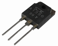 SANKEN 2SA1386, PNP Power transistor 130W, MT100<br />Price per piece
