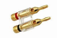 KACSA gold plated twin banana plug. max. 4mm² cable<br />Price per piece
