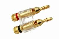 KACSA BP-214GT, gold plated twin banana plug. max. 4mm² cabl