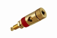 KACSA BP-226G, Binding post, gold plated full-metal with red