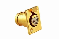 KACSA  XLR female 3p. socket, goldplated<br />Price per piece