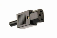 KACSA PC-1252G, 230V Euro connector, female, goldplated