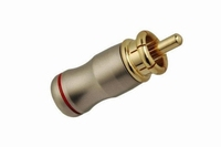 KACSA RP-215GT4, professional gold plated, short type RCA co