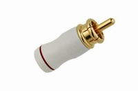 KACSA professional gold plated, short type RCA connector wit<br />Price per piece