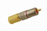 KACSA RP-70GT11, gold plated RCA plug, teflon insulated, Ø11