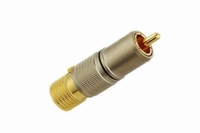 KACSA RP-70GT9, gold plated RCA plug, teflon insulated, Ø9mm