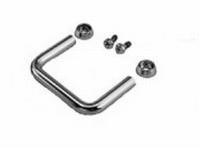 MODU 1MT0256C, Round handles, 2U, chrome. Price/pair