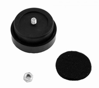 MODU PDAMMGOMMA, rubber foot 42x20mm, black, 4pc